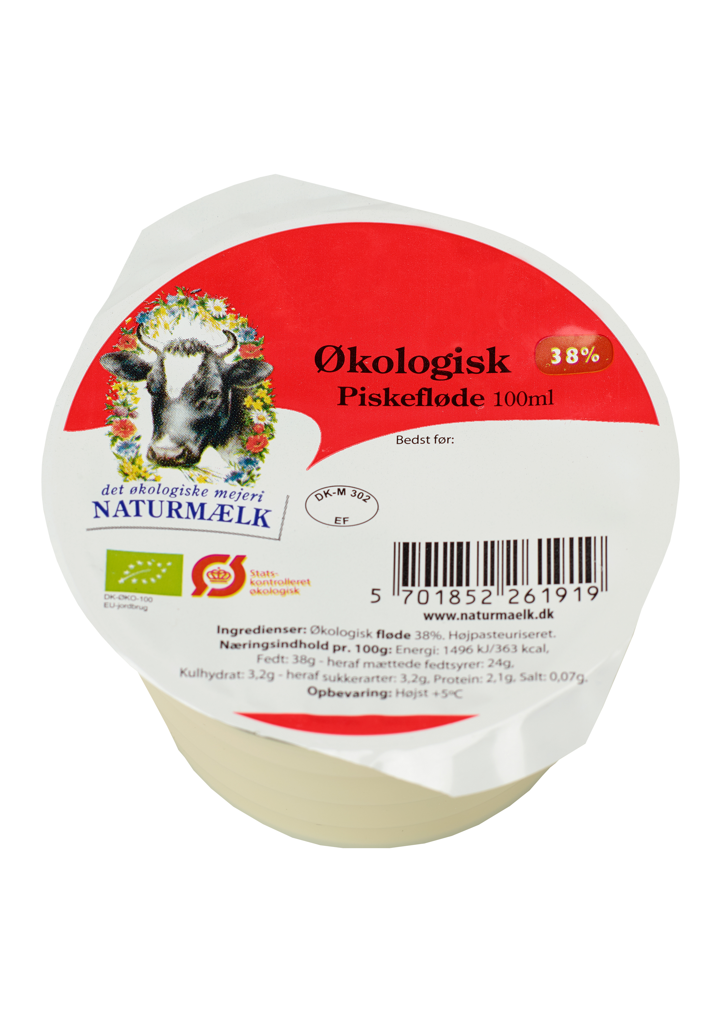 Dejlig Økologisk Piskefløde 38% 100ml - naturmælk.dk IK-78